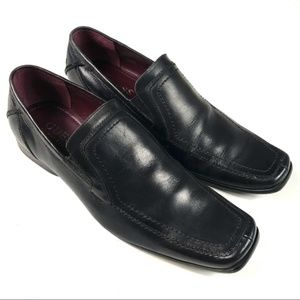 Guess by Marciano Men's Black Leather Loafers 10